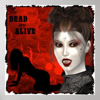 Die Toten sind - Plakat lebendig