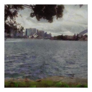 Die touristischen Orte von Sydney Poster