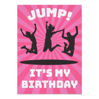 Die Trampoline-Schlag-Haus-Geburtstags-Party des 11,4 X 15,9 Cm Einladungskarte