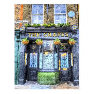 Die Trauben-Kneipen-London-Kunst Postkarte