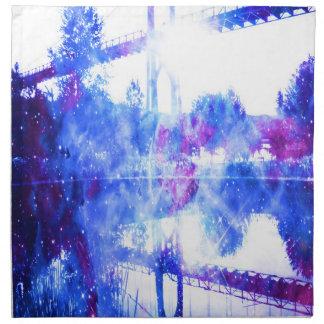 Die Traum-Brücke des Liebhabers zu überall Serviette