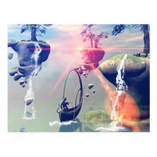 Die Traumwelt mit Fliegenfelsen Postkarte