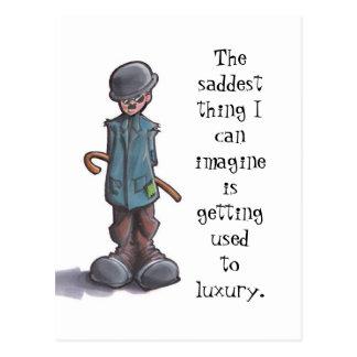 Die traurigste Sache… Postkarte