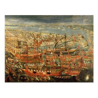 Die triumphierende Rückkehr von Doge Francesco Postkarte