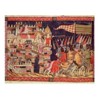Die Trojan, die für Kampf verlassen Postkarte