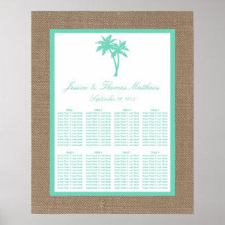 Die tropische Palme-Strand-Hochzeits-Sammlung Poster