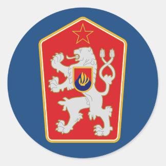 Die Tschechoslowakei - Wappen (1960-1990) Runder Aufkleber