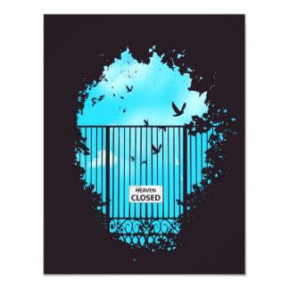 Die Tür des Himmels Individuelle Einladungskarte