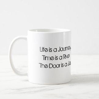 Die Tür ist ein Glas Kaffeetasse