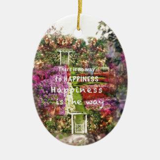 Die Türen führen uns zum Garten des Glückes Keramik Ornament