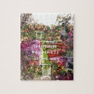 Die Türen führen uns zum Garten des Glückes Puzzle