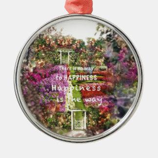 Die Türen führen uns zum Garten des Glückes Silbernes Ornament