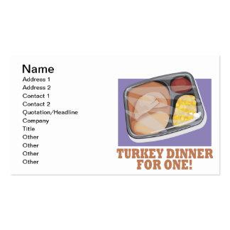 Die Türkei-Abendessen für eins Visitenkarten