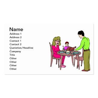 Die Türkei-Abendessen Visitenkartenvorlagen