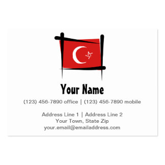 Die Türkei-Bürsten-Flagge Jumbo-Visitenkarten