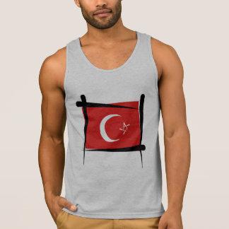 Die Türkei-Bürsten-Flagge Tank Top
