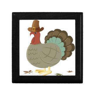Die Türkei-Fall-Blatt-Herbst-Eichel-Erntedank Geschenkbox