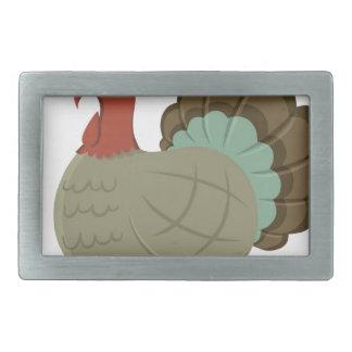 Die Türkei-Fall-Blatt-Herbst-Eichel-Erntedank Rechteckige Gürtelschnallen