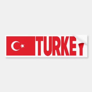Die Türkei-Flagge Autoaufkleber