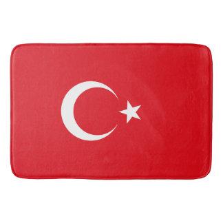 Die Türkei-Flagge Badematte