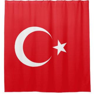 Die Türkei-Flagge Duschvorhang
