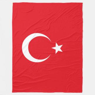 Die Türkei-Flagge Fleecedecke