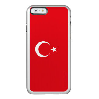 Die Türkei-Flagge Incipio Feather® Shine iPhone 6 Hülle