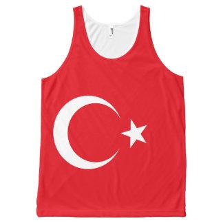 Die Türkei-Flagge Komplett Bedrucktes Tanktop