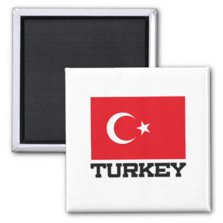 Die Türkei-Flagge Quadratischer Magnet