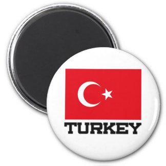 Die Türkei-Flagge Runder Magnet 5,1 Cm