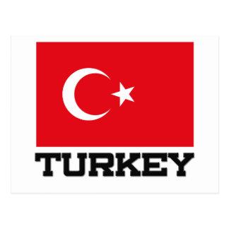 Die Türkei-Flagge Postkarte