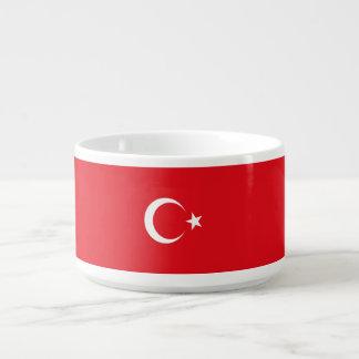 Die Türkei-Flagge Schüssel