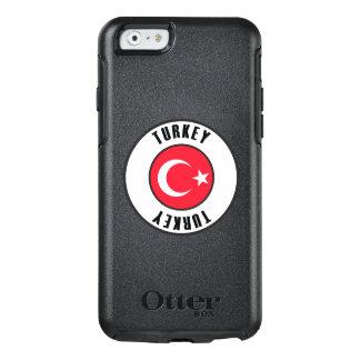 Die Türkei-Flaggen-einfache Dunkelheit OtterBox iPhone 6/6s Hülle