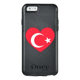 Die Türkei-Flaggen-Herz OtterBox iPhone 6/6s Hülle