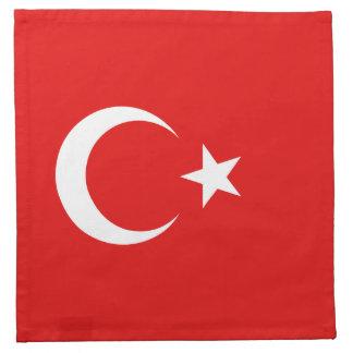 Die Türkei-Flaggen-Serviette Stoffserviette