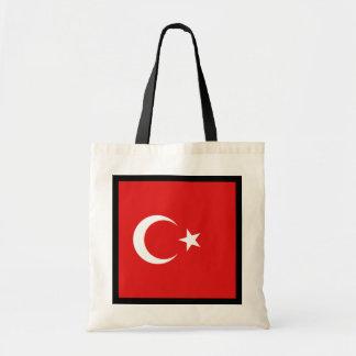 Die Türkei-Flaggen-Tasche Budget Stoffbeutel