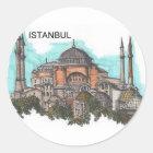 Die Türkei Istanbul Hagia Sophia (durch St.K) Runder Aufkleber