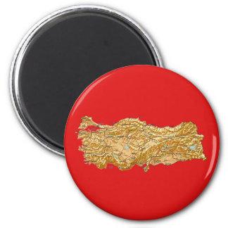 Die Türkei-Karten-Magnet Runder Magnet 5,1 Cm