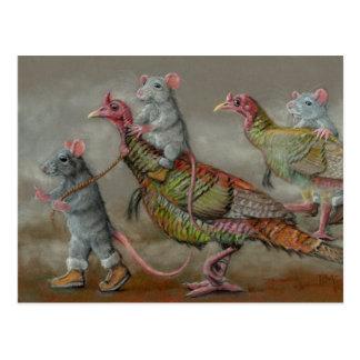 Die Türkei-Laufratten wilde Erntedank kmcoriginals Postkarte