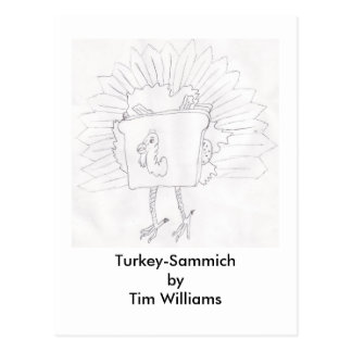 Die Türkei-Sammich durch Tim Williams Postkarte