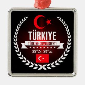Die Türkei Silbernes Ornament