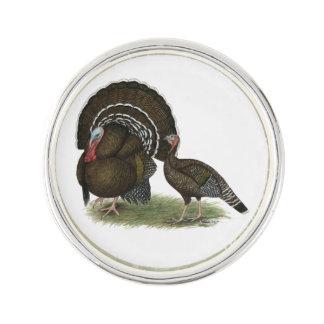 Die Türkei-Standard-Bronze Anstecknadel