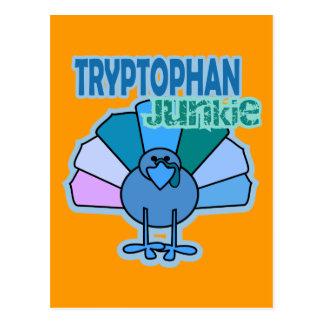 Die Türkei-Tryptophan-Junkie-Erntedank-Entwurf Postkarte