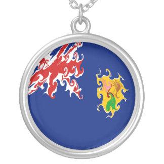 Die Turks- und Caicosinseln-Gnarly Flagge Halsketten