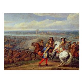 Die Überfahrt des Rheins, am 12. Juni 1672 (Öl an Postkarte