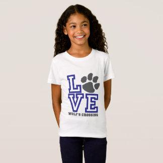Die Überfahrt-Mädchen LIEBE Wolfs T-Shirt