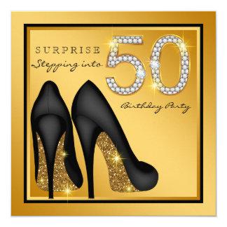 Die Überraschungs-50. Geburtstags-Party der Frau Karte