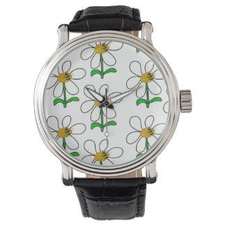 Die Uhr der Bienen-Blumen-Power-Männer