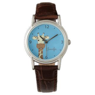 Die Uhr der blauen Namensfrau des lustigen