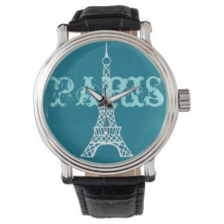 Die Uhr Türkis-Eiffelturm-Paris-Frauen